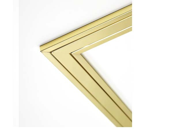 Brass/Brass One-piece Two-tone Frame