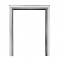 One piece Chamfered Chrome Frame FOR ELECTRIC FIRES